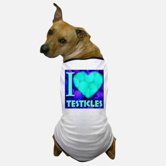 I (Heart) Testicles Dog T-Shirt