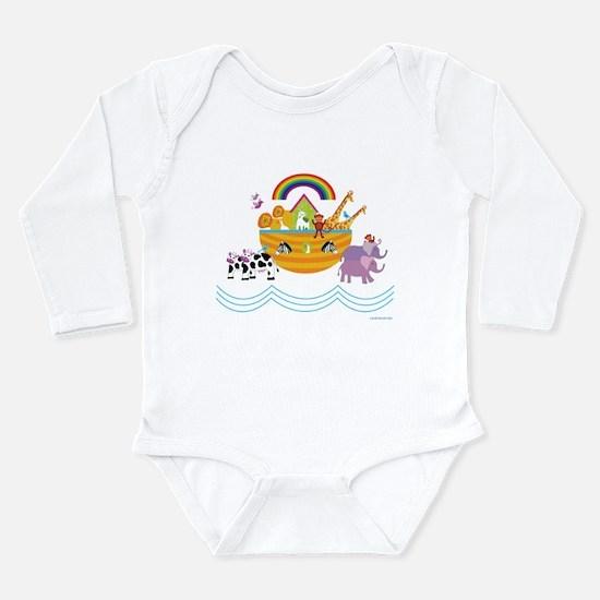 Noahs Ark Long Sleeve Infant Bodysuit