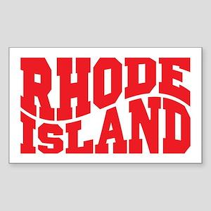 Rhode Island Sticker (Rectangle)