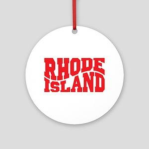 Rhode Island Ornament (Round)