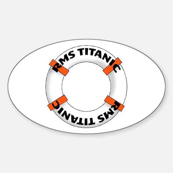 RMS Titanic Sticker (Oval)