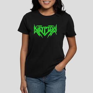 Krypton Green distressed Logo Women's Dark T-Shirt