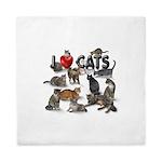 "Queen Duvet ""I love Cats"""