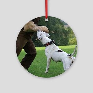 Schutzhund American Bulldog Ornament (Round)