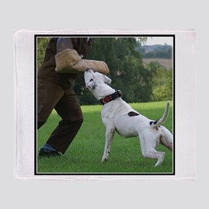 Schutzhund American Bulldog Throw Blanket