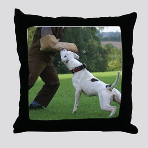 Schutzhund American Bulldog Throw Pillow