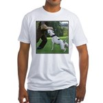 Schutzhund American Bulldog Fitted T-Shirt
