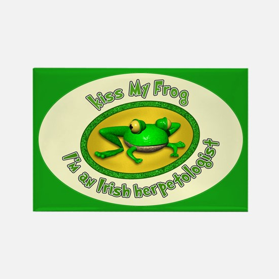 Kiss My Frog... Rectangle Magnet