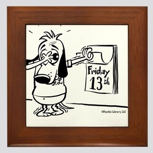 Friday the 13th! Black and Wh Framed Tile