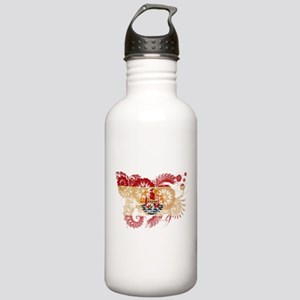 French Polynesia Flag Stainless Water Bottle 1.0L