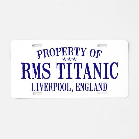 Titanic Aluminum License Plate