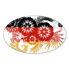 Germany Flag Sticker (Oval)
