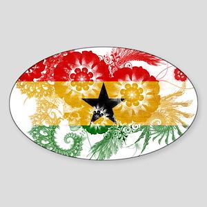 Ghana Flag Sticker (Oval)