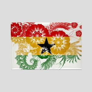 Ghana Flag Rectangle Magnet