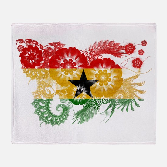 Ghana Flag Throw Blanket