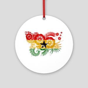 Ghana Flag Ornament (Round)