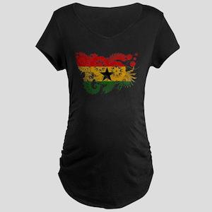 Ghana Flag Maternity Dark T-Shirt