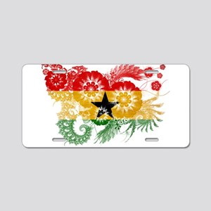 Ghana Flag Aluminum License Plate