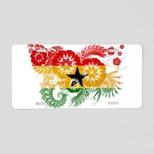 Ghana Flag Aluminum License Plate