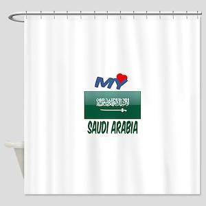 My Love Saudi Arabia Shower Curtain