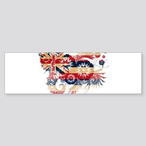 Hawaii Flag Sticker (Bumper)