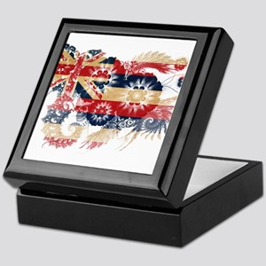 Hawaii Flag Keepsake Box