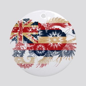 Hawaii Flag Ornament (Round)