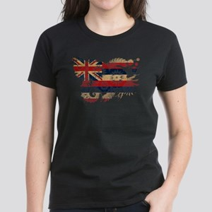 Hawaii Flag Women's Dark T-Shirt