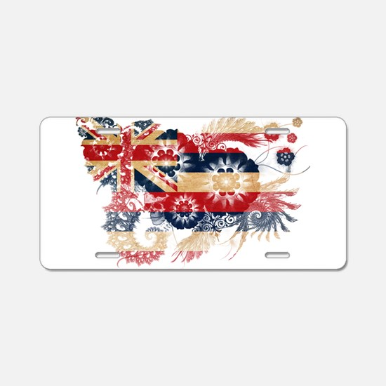 Hawaii Flag Aluminum License Plate