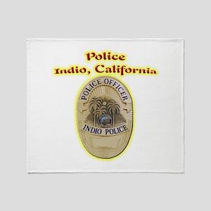 Indio Police Throw Blanket