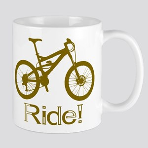MTB-Ride-Brown Mugs