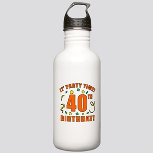 40th Party Time! Stainless Water Bottle 1.0L