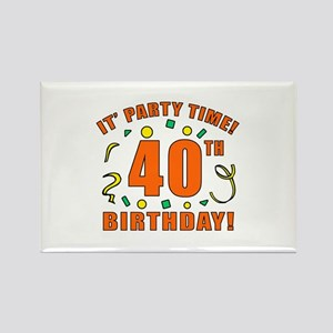 40th Party Time! Rectangle Magnet