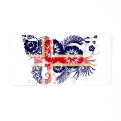 Iceland Flag Aluminum License Plate