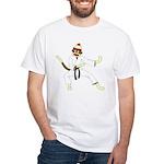 Sock Monkey Karate White T-Shirt