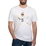 Sock Monkey Karate Fitted T-Shirt