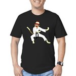 Sock Monkey Karate Men's Fitted T-Shirt (dark)
