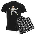 Sock Monkey Karate Men's Dark Pajamas