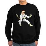 Sock Monkey Karate Sweatshirt (dark)