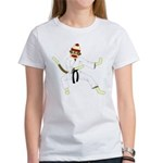 Sock Monkey Karate Women's T-Shirt