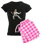 Sock Monkey Karate Women's Dark Pajamas