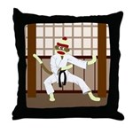 Sock Monkey Karate Throw Pillow