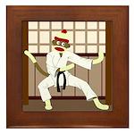 Sock Monkey Karate Framed Tile