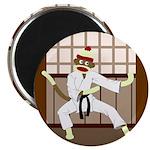Sock Monkey Karate Magnet