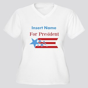 Personalized For President Women's Plus Size V-Nec
