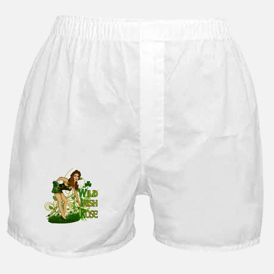 Wild Irish Rose Pinup Boxer Shorts