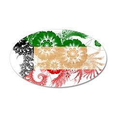 Kuwait Flag 22x14 Oval Wall Peel