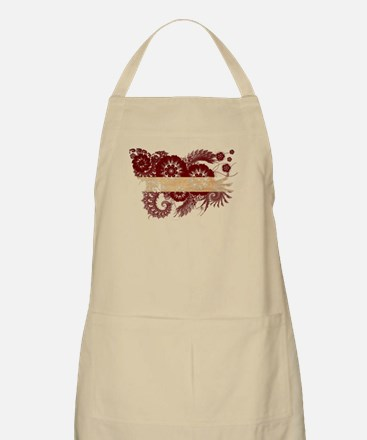 Latvia Flag Apron