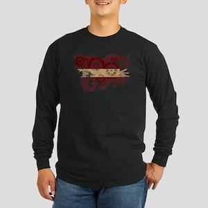 Latvia Flag Long Sleeve Dark T-Shirt