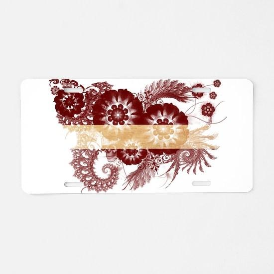 Latvia Flag Aluminum License Plate